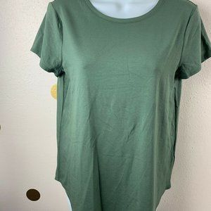CUPIO Womens Size M Olive Green Top T-Shirt